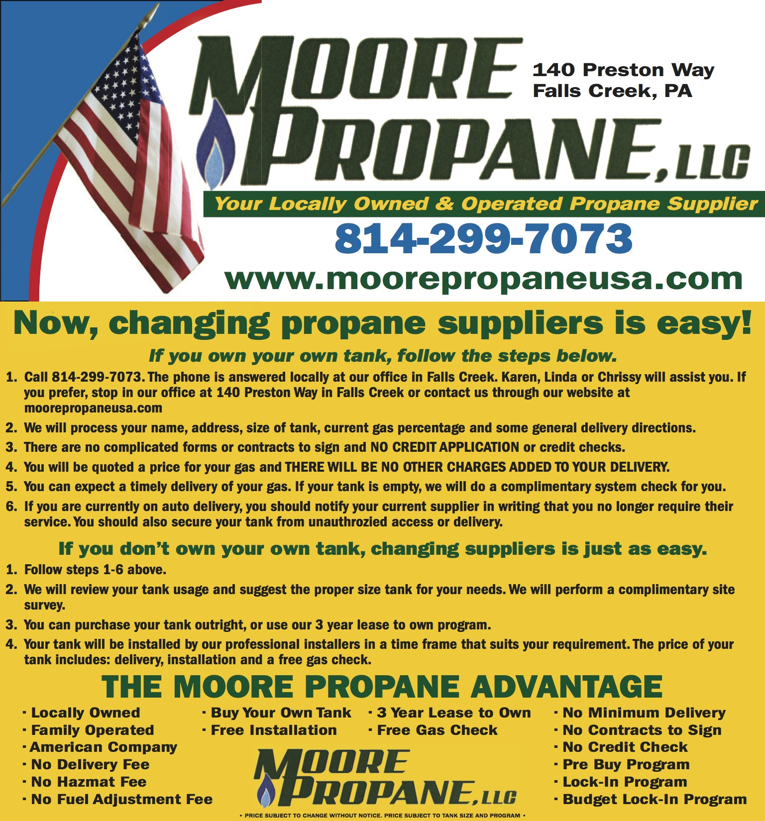 How to Change Propane Suppliers | Moore Propane, LLC